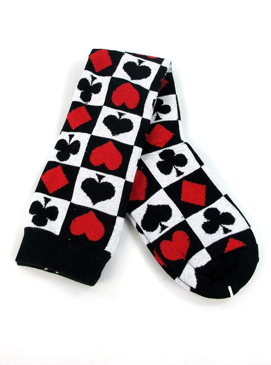 Red Queen Knee-High Card Socks Accessory