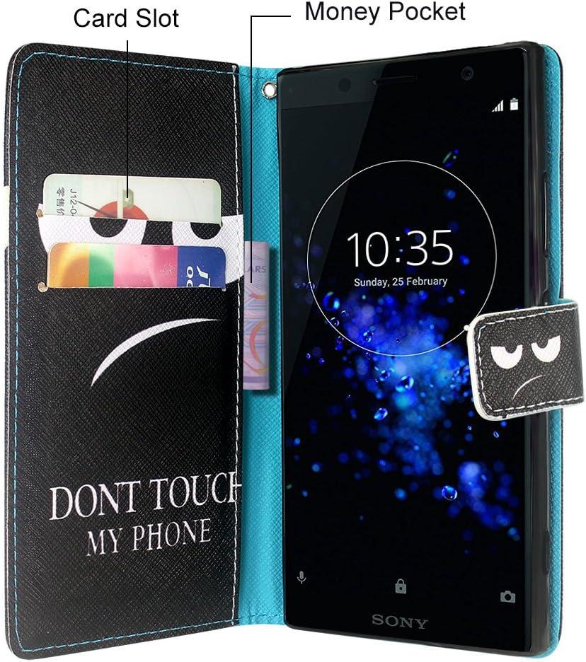 CMID Funda Sony Xperia XZ2 Cierre magn/ético Funci/ón de Soporte Ranura para Tarjetas PU Cuero Libro Billetera Tapa Antigolpes Protective Cartera Carcasa Case para Sony Xperia XZ2 B-Morado Claro