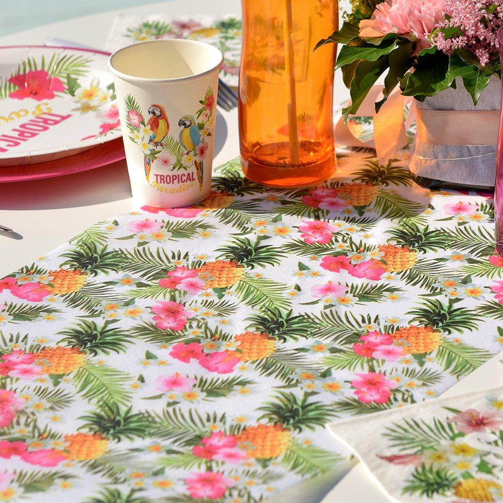 Chemin de table tropical 30cm x 5m x1 REF//5801