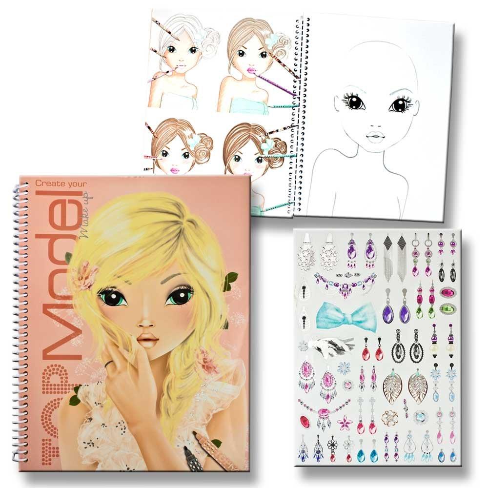 Topmodel Fantasy Ausmalbilder : Topmodel Malbuch Create Your Topmodel Make Up Mit Sticker Und