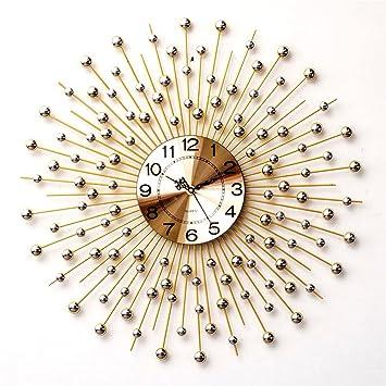 Silber Überzogene Diamant Haus Eisen Stille Nicht Tickende Dekorative Wand  Uhr Wohnzimmer Schlafzimmer Kreative Wanduhr Home