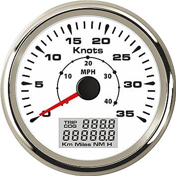Marine Boat Auto GPS Speedometer Speed Meter Gauge 85mm MPH 35 Knots 9-32V