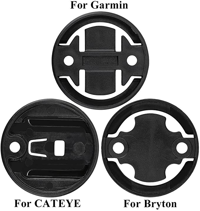 Plastic Bicycle Computer Bracket Mount Fixed Base Male Seat Black For GARMIN