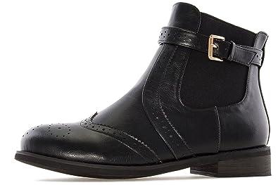 ANDRES MACHADO - Damen Chelsea Boots - Braun Schuhe in Übergrößen