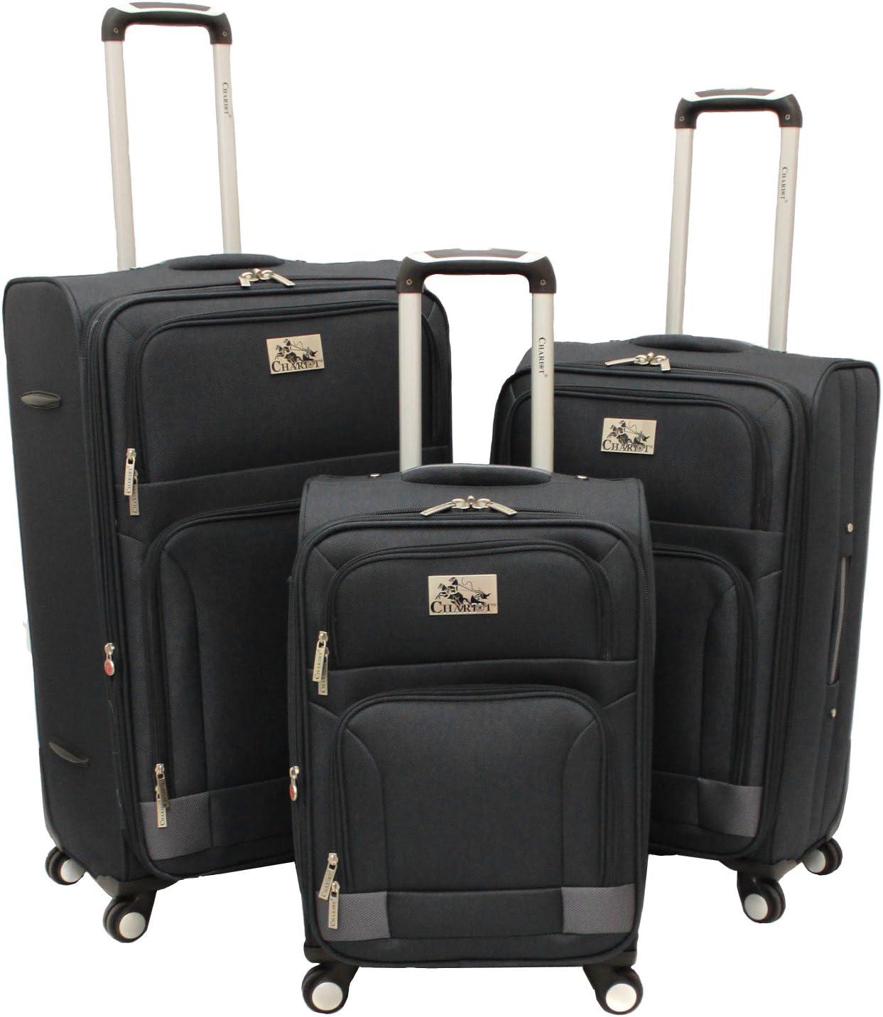 Chariot Armada 3-piece Hardside Tsa Lock Upright Spinner Luggage Set-Tan Pink One Size