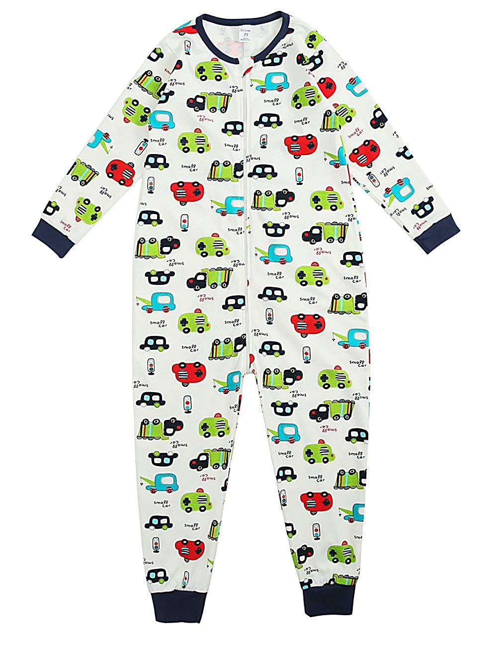 Sunnycows Kids Onesie Pajamas Cotton Easy Zip Open One Piece Pajamas for Children Size 3T-9T …