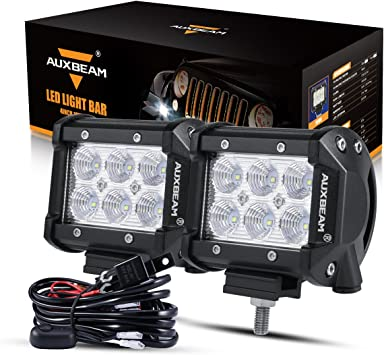 "42/""IN 240W LED Curved Light Bar Flood Spot Off road+2pcs 4/"" 18W Cube Pods+Wiring"