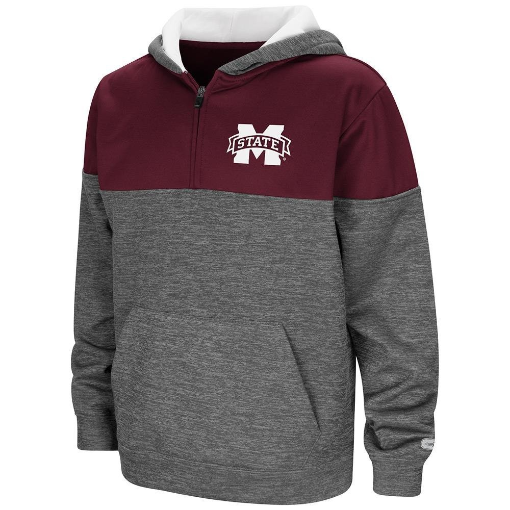 Colosseum Youth Mississippi State Bulldogs Quarter Zip Pull-Over Hoodie