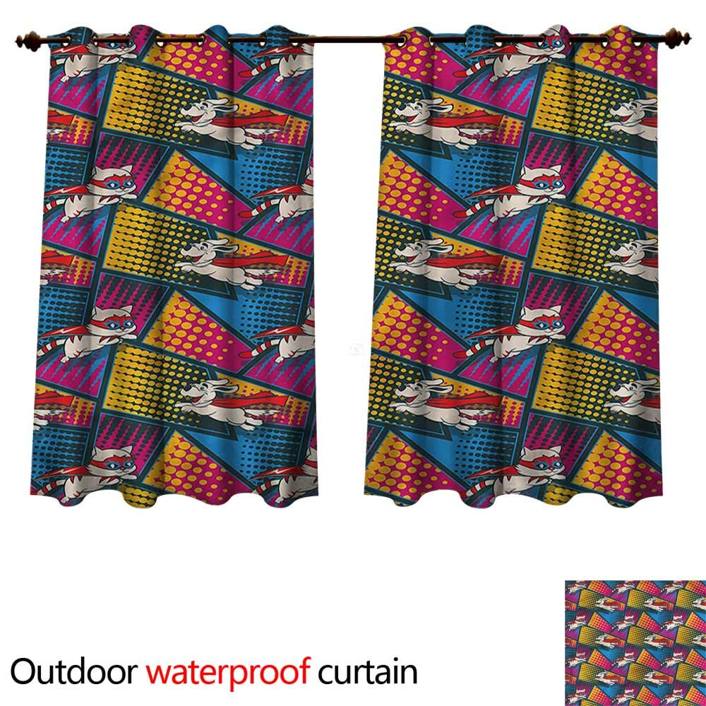 cobeDecor Superhero Outdoor Curtain for Patio Cats and Dogs Cape Mask W84 x L72(214cm x 183cm) by cobeDecor (Image #1)