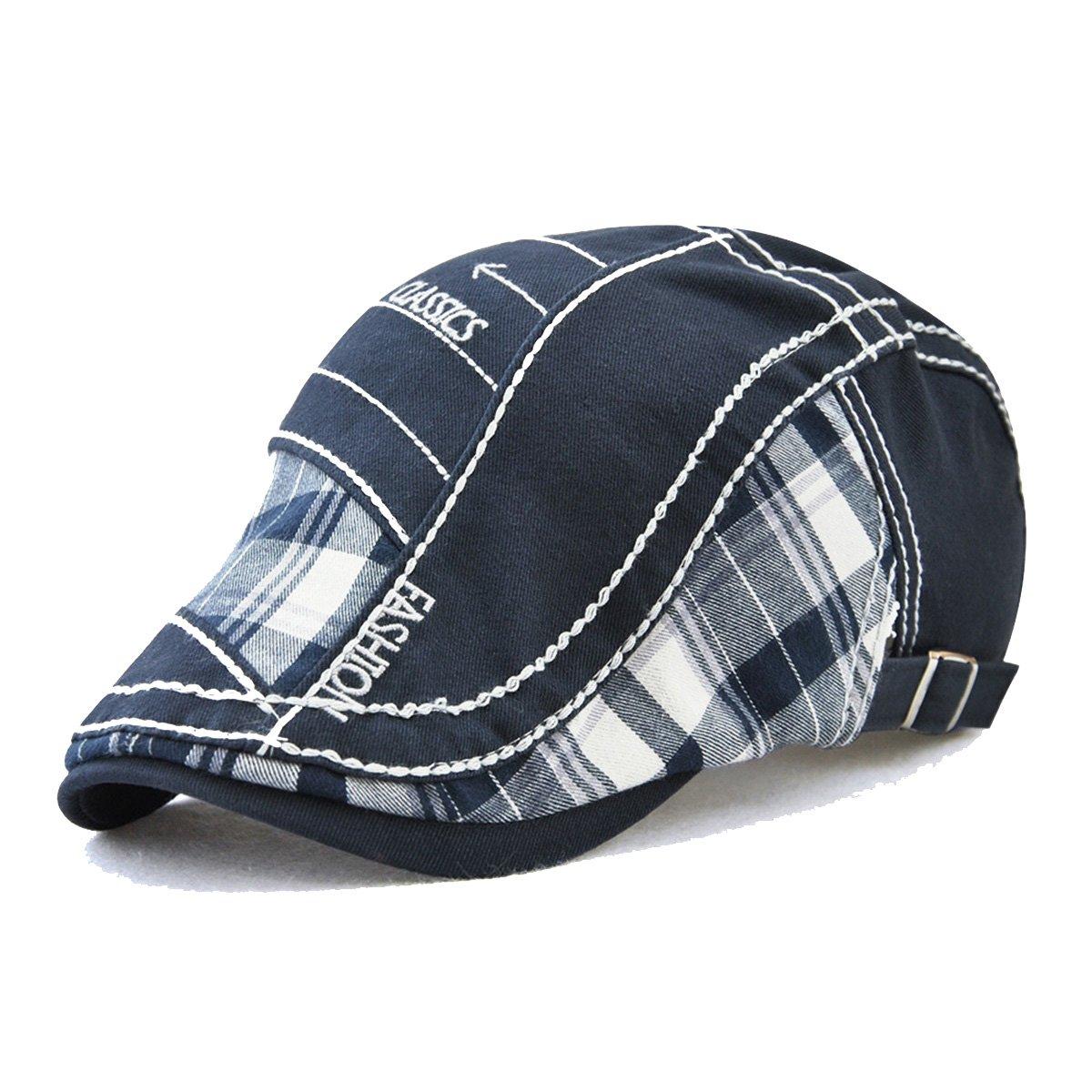 00b37df816a22 Galleon - FayTop Men s Women s Newsboy Cap Ivy Irish Flat Hat Cabbie Scally  Cap Cabbie Driving Caps Hats E12942-blue