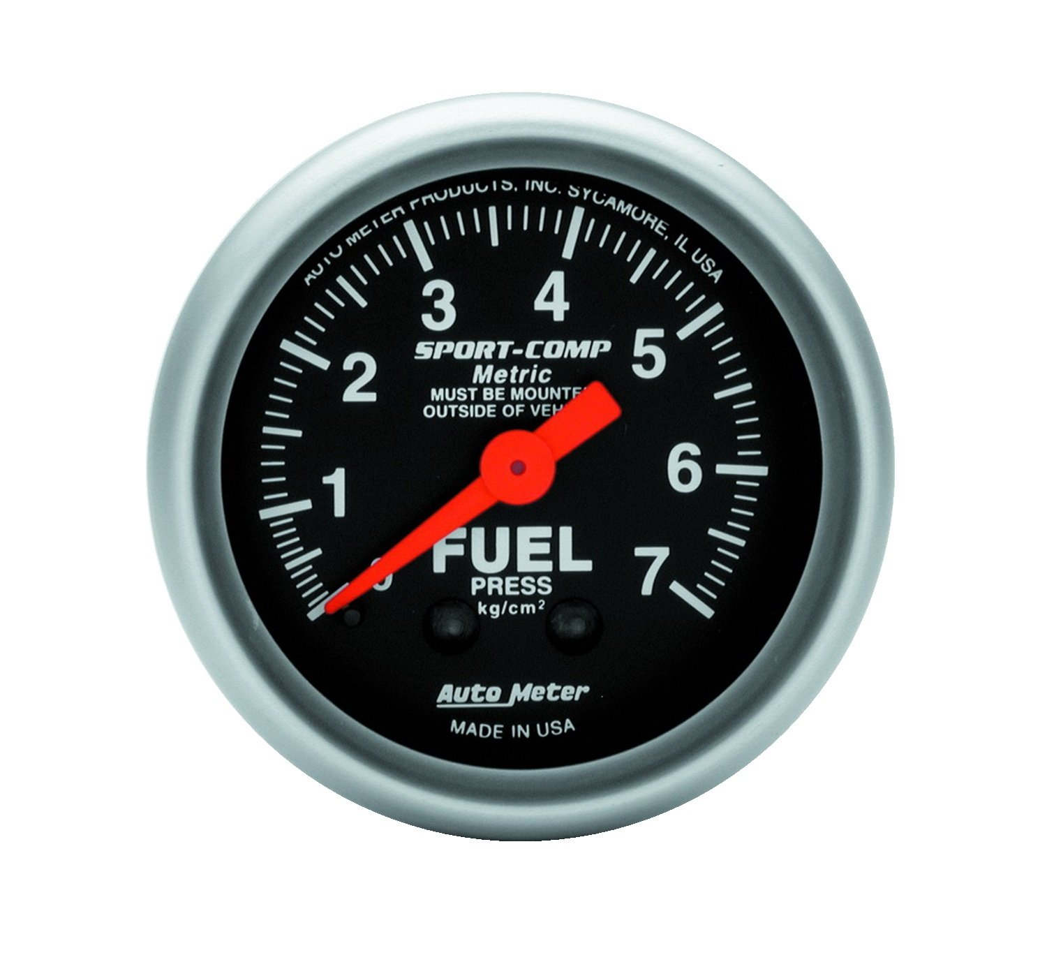 Auto Meter 3312-J Sport Comp 2-1/16' Mechanical Fuel Pressure Metric Gauge