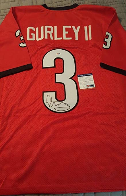 timeless design 612a0 f0110 Todd Gurley Georgia Bulldogs Autographed Signed Jersey ...