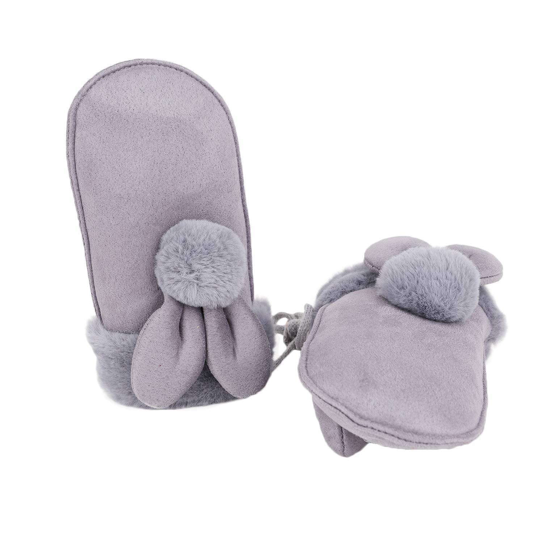 YJZQ Handschuhe M/ädchen F/äustlinge Warm Winterhandschuhe Jungen Fingerhandschuhe mit Schnur Outdoor Skihandschuhe Wasserdicht