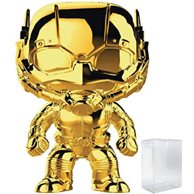 Marvel Studios 10th Anniversary - Ant-Man (Gold Chrome) Funko Pop! Vinyl Figure (Includes Compatible Pop Box Protector Case): Toys & Games