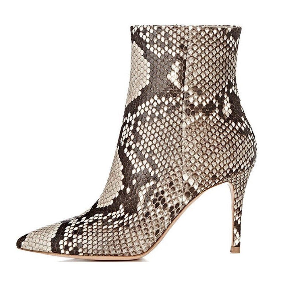 Soireelady Bottine à Talon Taille Bottine Soireelady Haut - Femme - Bottes pour femmes - Hiver Chaussures Taille Grande Python c3cf3f8 - shopssong.space