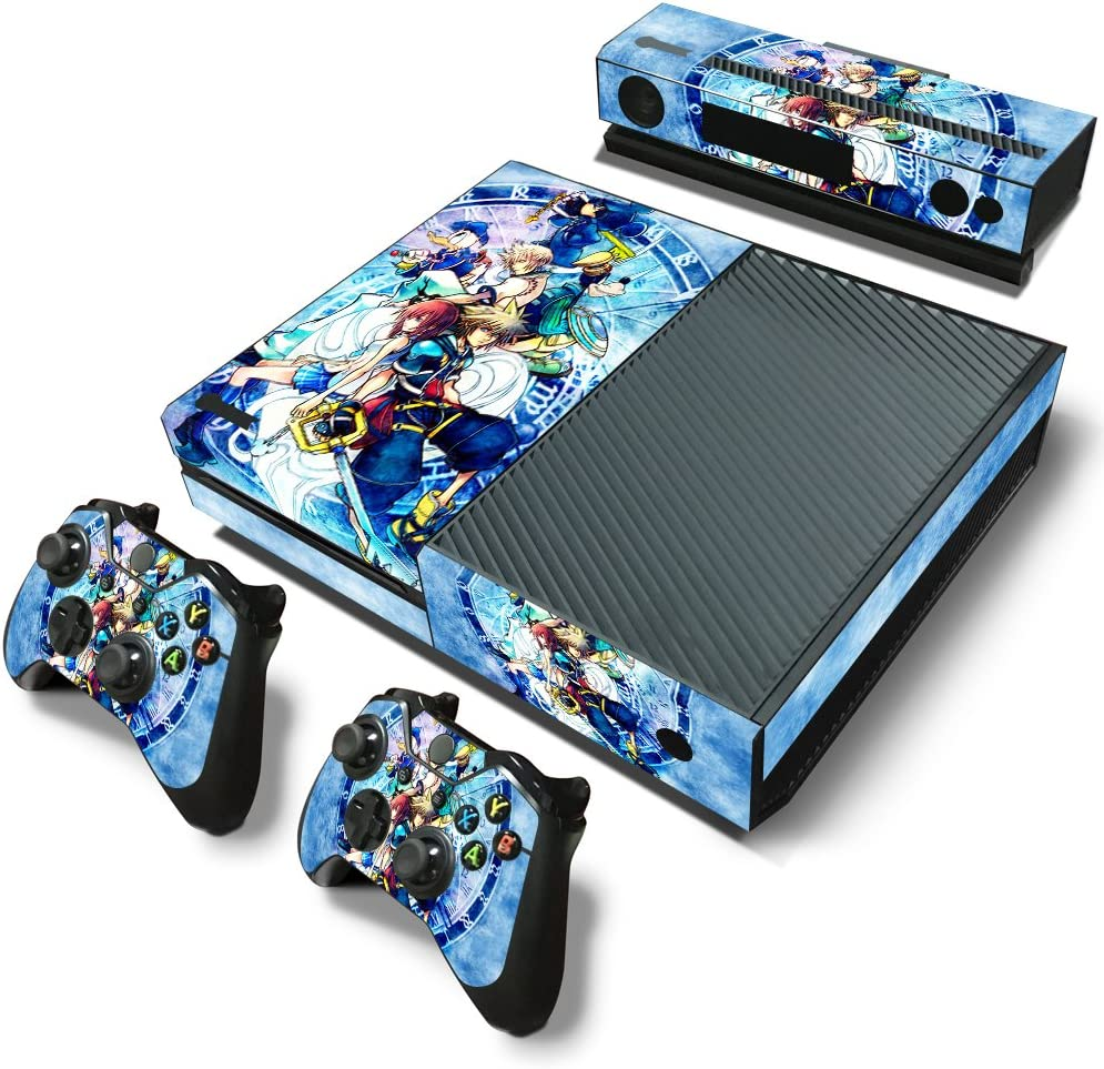Video Game Accessories Anime Kingdom Hearts 3 Family Vinyl Skin Stickers For Xbox One S Slim Consoles Durable In Use Faceplates, Decals & Stickers