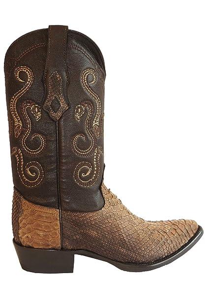 Cuadra Herren Westernstiefel Cowboystiefel Schlangenleder