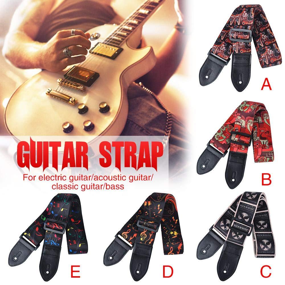sprintrase Correa de la Guitarra, Correa Grande para Guitarra Acústica/ Eléctrica/bajo, Longitud Ajustable: Amazon.es: Hogar