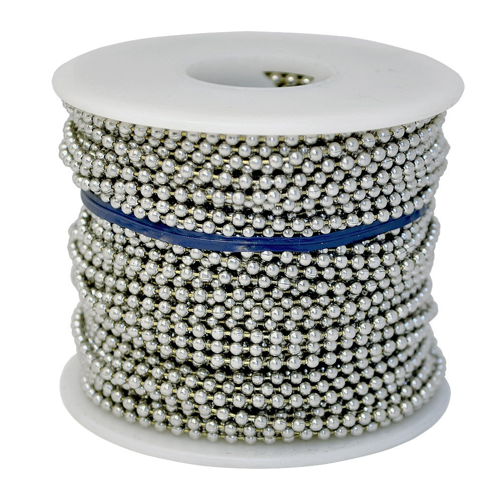 Ball Chain Number 3 Spool Nickel Plated Steel 100 Feet by Ball Chain