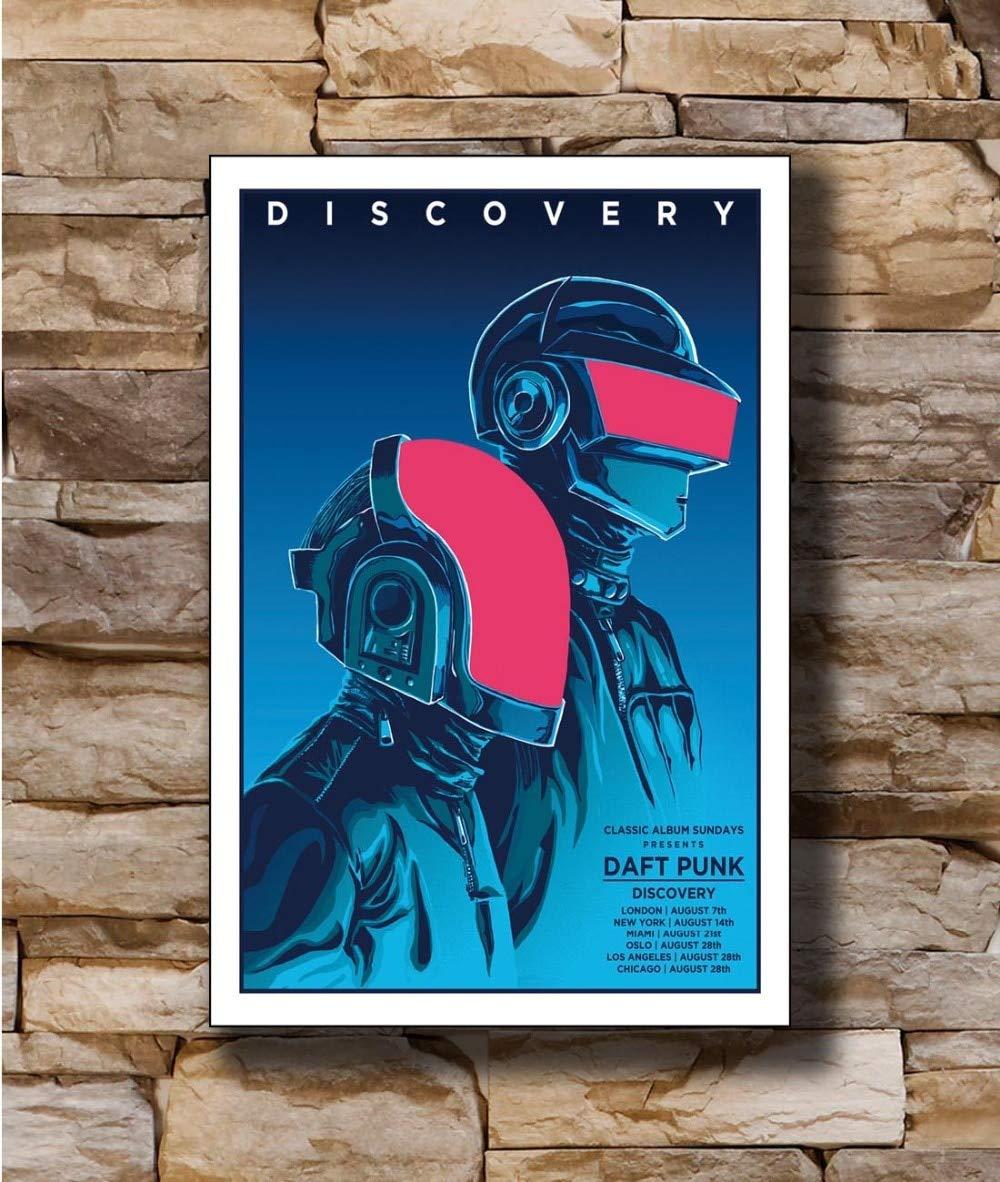 : 8x12 inch Gimax N2027 Daft Punk The Weeknd Starboy 8x12 20x30 24x36 Wall Poster Art L-W Canvas Print Decoration - Size Inch