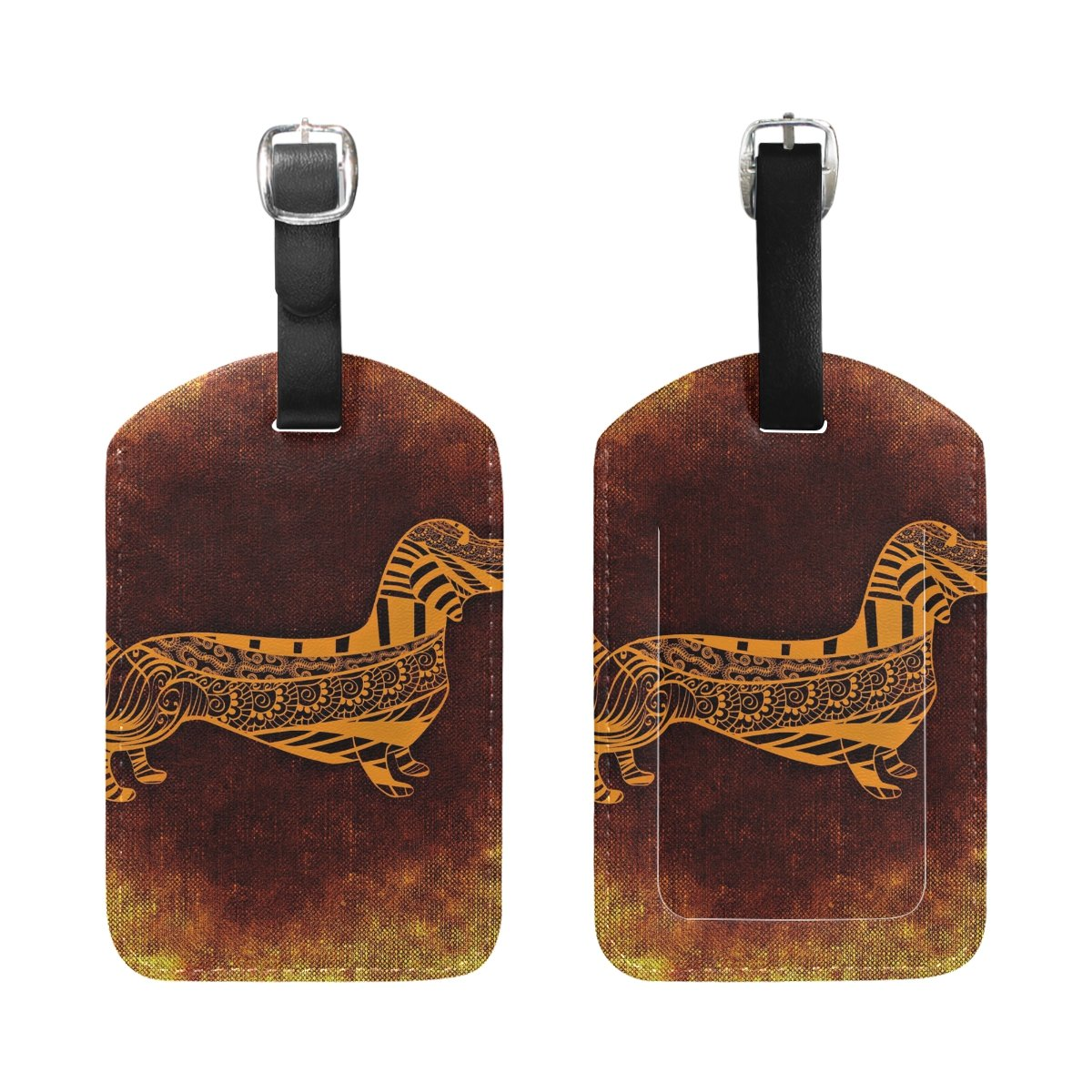 Aumimi Cool Dog Travel Luggage Tags Airlines Baggage Labels 2pcs