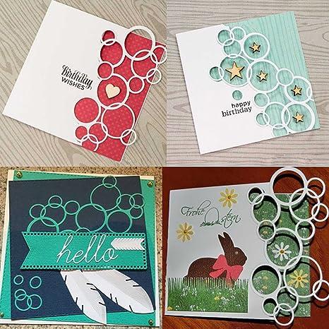 Silver yanQxIzbiu Cutting die Fashion Flower Metal Stencil Cutting Die for Album Scrapbooking DIY Card Making