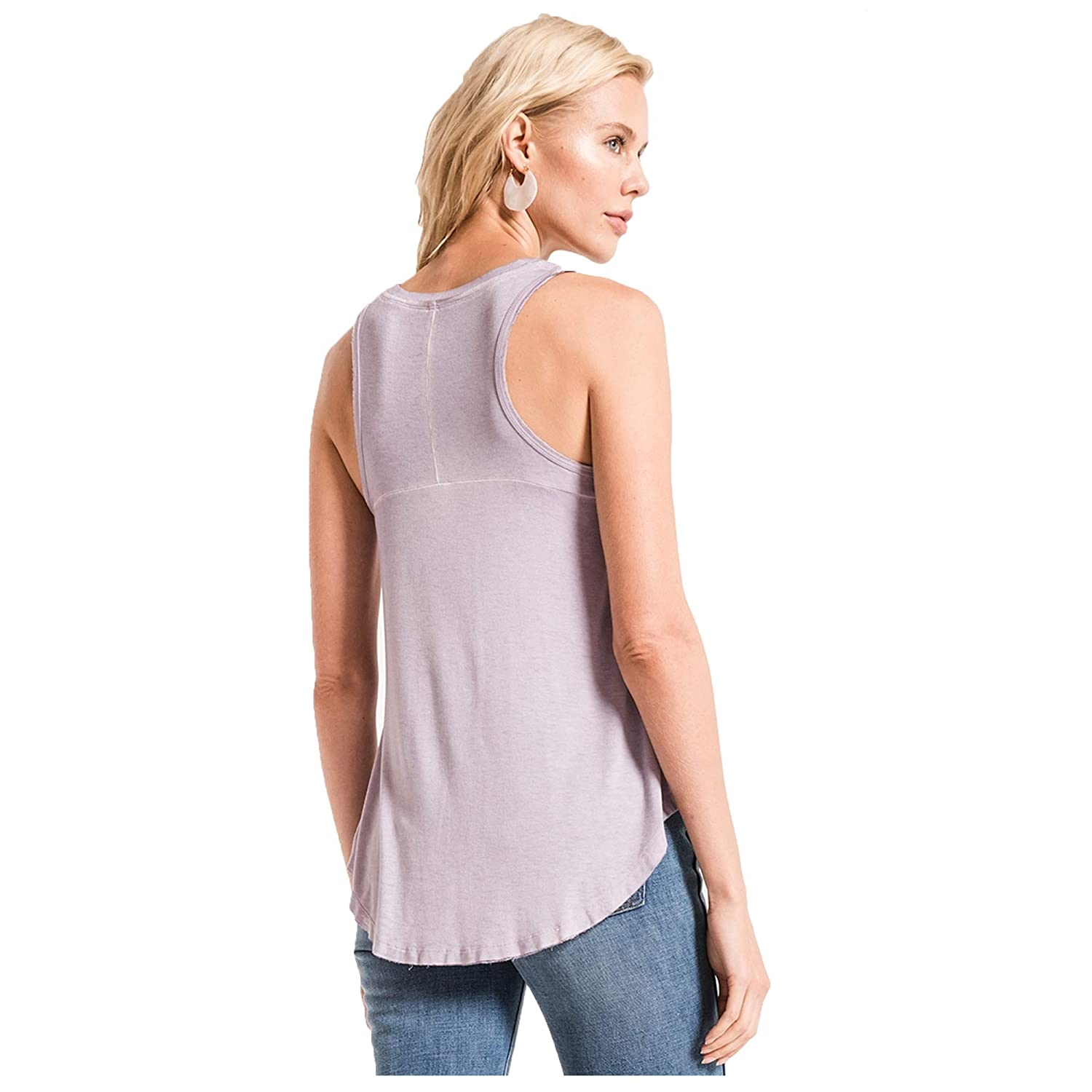 Small Misty Lilac Z SUPPLY Clothing Womens Vagabond V Neck Tank Top