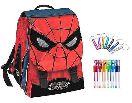 Mochila Hombre Araña Spiderman Extensible + Llavero Silbato ...