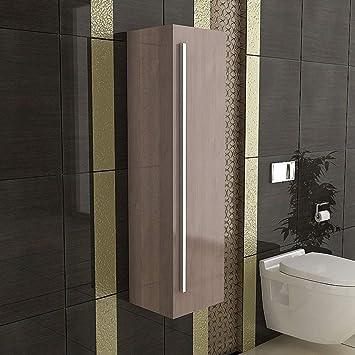 Seitenschrank/Badezimmer Hochschrank/Modell Garda H 120 Braun/Design /  Möbel Für