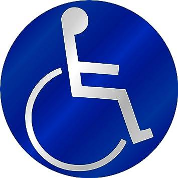 Aufkleber Behinderten Symbol Reflektierend Blau Schneller Versand Innerhalb 24 Stunden