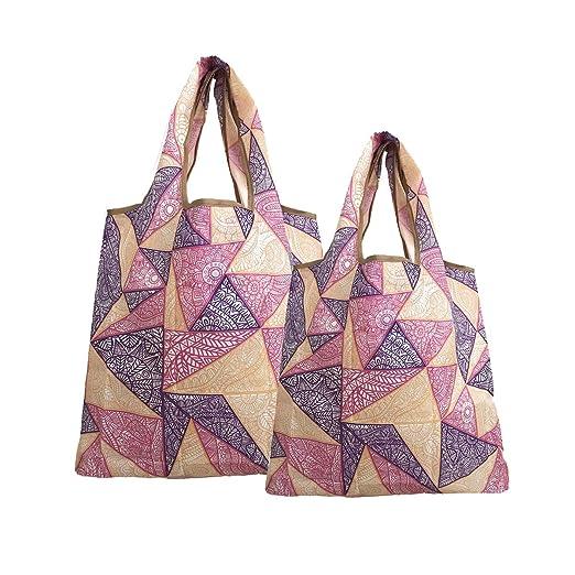 2 bolsas de compras reutilizables, plegables, resistentes al ...