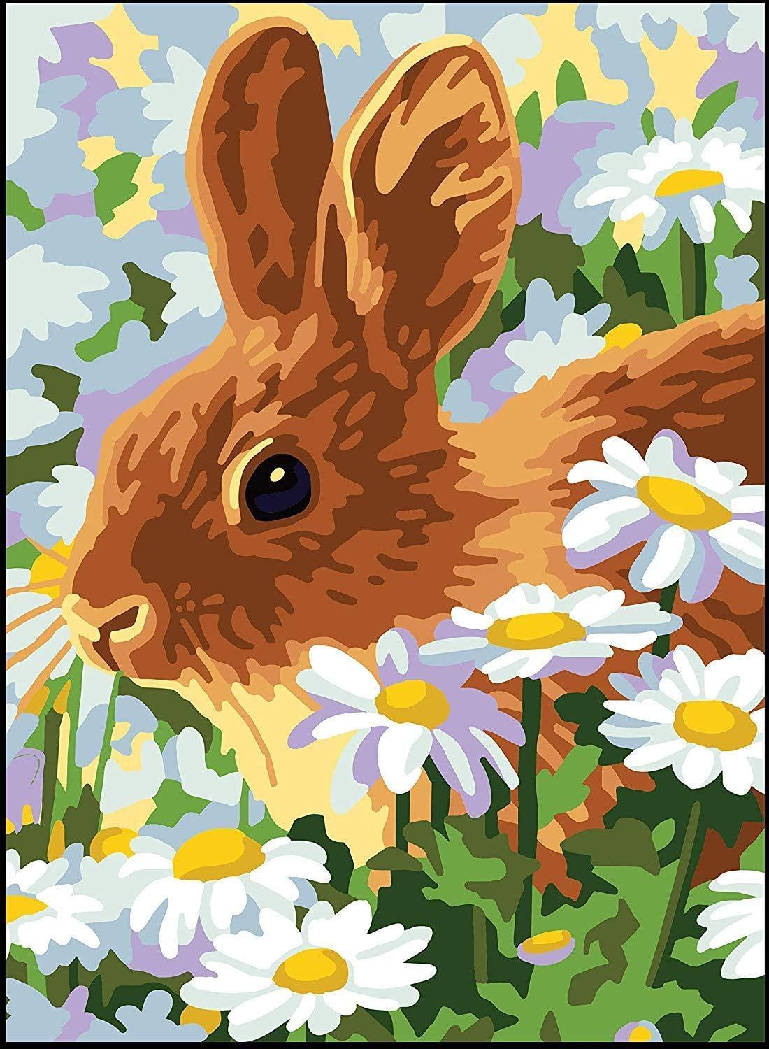 Rabbit RTO Collection DArt Needlepoint Printed Tapestry Canvas 22X30cm-Rabbit