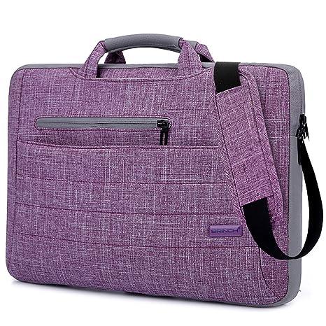 e7602283c1c2 BRINCH 14-14.1 Inch Multi-Functional Suit Fabric Portable Laptop Sleeve  Case Bag for Laptop, Tablet, MacBook, Notebook - Purple