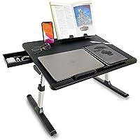 Cooper Desk PRO [XL Adjustable Folding Laptop Desk] - Height & Tilt Angle | Leather Top for Work, Study, Bed | Reading…