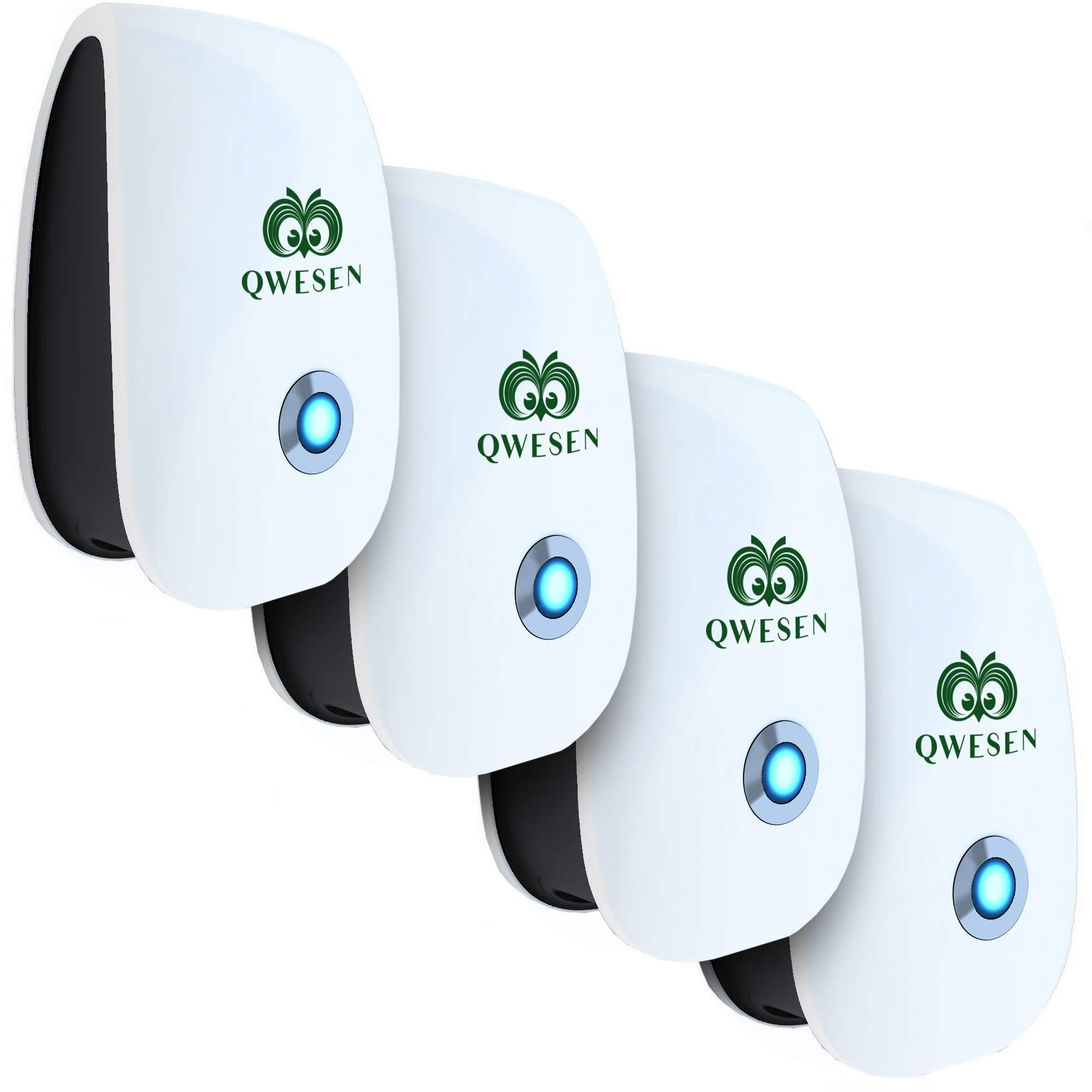 Ultrasonic Pest Repeller | Best Pest Control Ultrasonic Repellent - Set of 4 Electronic Pest Control - Pest Reject - Plug in Home Indoor Repeller - Get Rid of Mosquitos, Insects, Ants, Fleas, Gophers