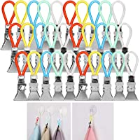 AKWOX (30-Pack Kitchen Towels Clip, Tea Towel Holder Clips,Cloth Hook Clip Hangers for Home Kitchen Bathroom Cupboards…