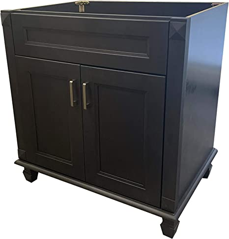 Amazon Com 36 Wide X 21 Deep New Carbon Metallic Black Single Sink Bathroom Vanity Base Cabinet Ncm V3621 Kitchen Dining