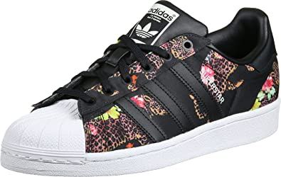 adidas superstar black floral