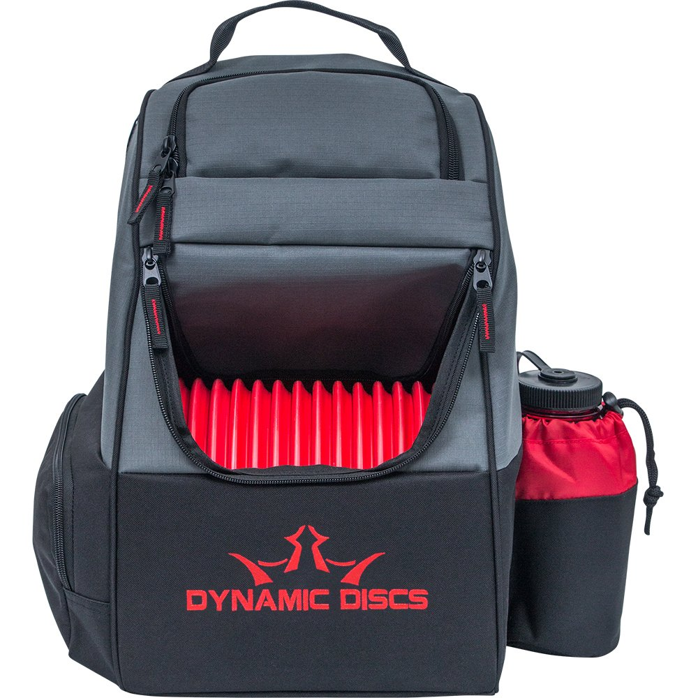 Dynamic Discs Trooper Backpack Disc Golf Bag - Gray/Red by Dynamic Discs