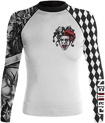 Raven Fightwear Women/'s The Red Rash Guard MMA BJJ Red