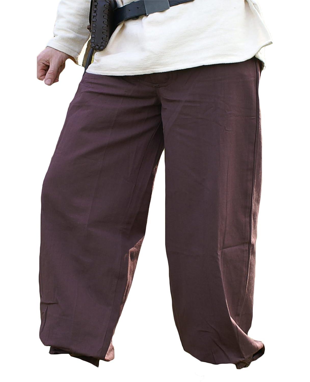 Compra calidad 100% autentica Battle Merchant Pantalón Medieval Pantalones con Cierre, marrón Oscuro Oscuro Oscuro de Algodón - Larp Edad Media Vikingo - XL  hasta 60% de descuento