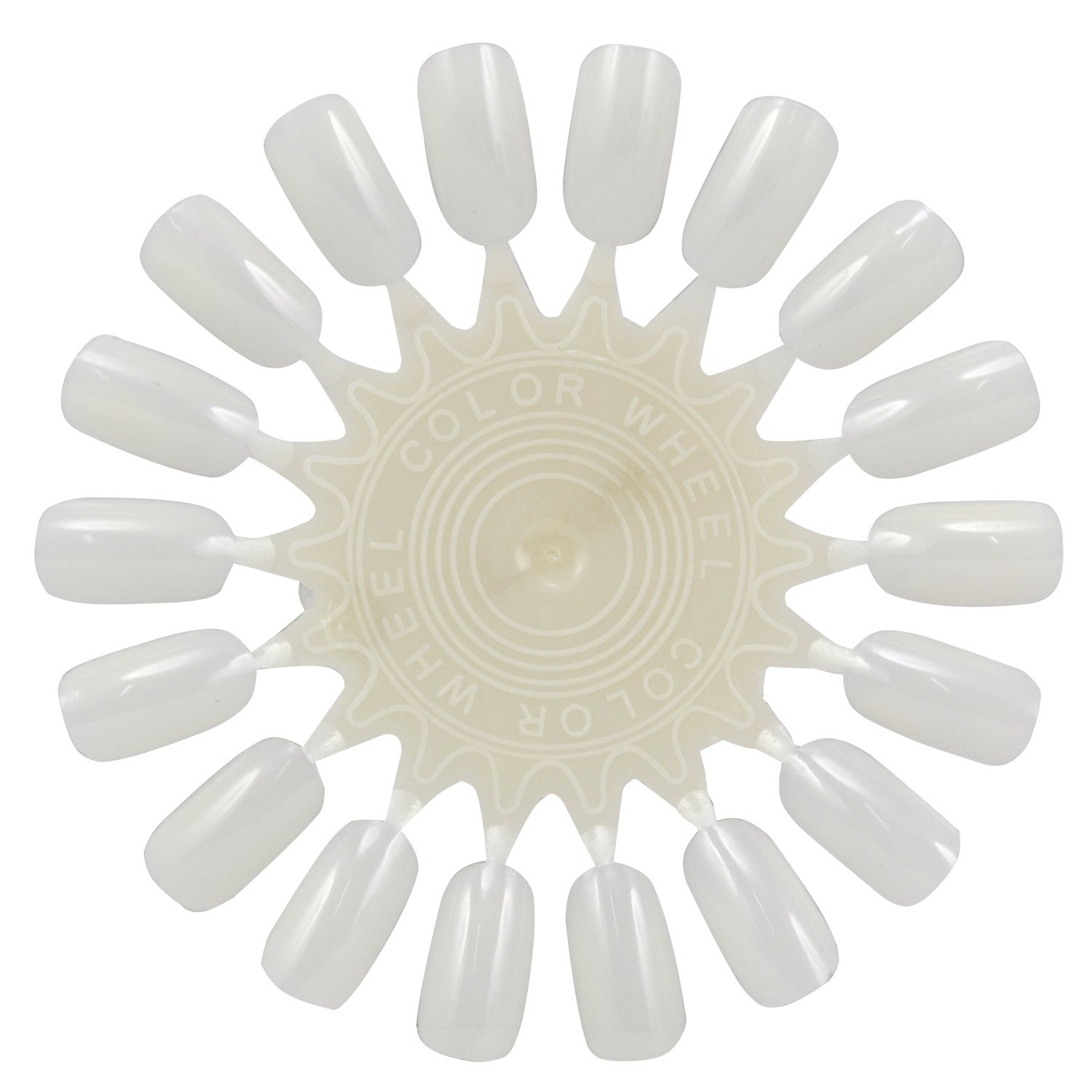 10 x Natural White Nail Art Wheels: Amazon.co.uk: Beauty