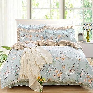 SASA Blume Design Duvet/Steppdecke Cove Bettwäsche Set Mit Kissenbezüge  Vintage Elegante Mode Schlafzimmer Set