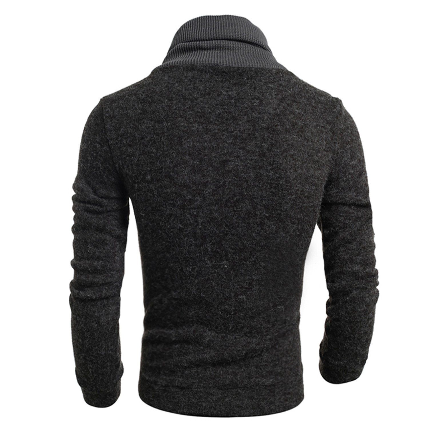 Sweater Pullover Men Male Casual Slim Sweaters Classic High Collar Simple Sweater
