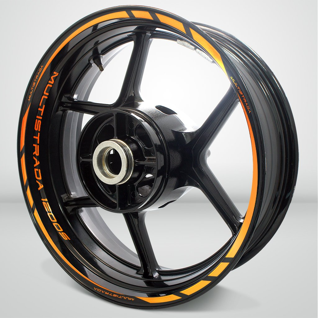 オートバイリムホイールデカールアクセサリーステッカーfor Ducati Multistrada 1200s SDPKPWPDU031RO  反射オレンジ B074C644N8