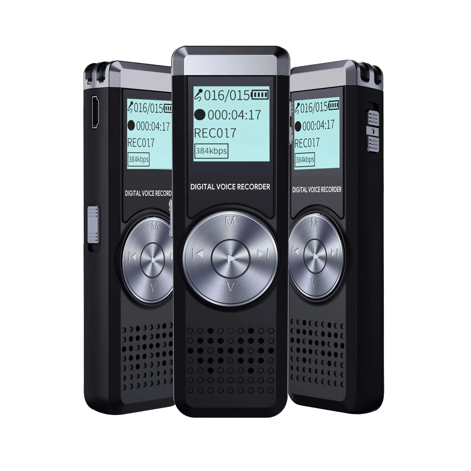 Voice Recorder for lectures Tape Recorder with MP3 IIDA 8GB Audio Recorder Digital Voice Activated Sound Recorder Portable USB Mini dictaphone Playback