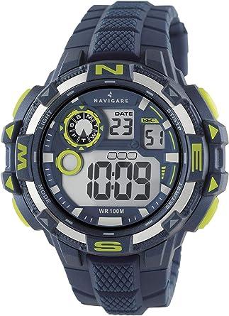 Navigare Action NA202 - Reloj Deportivo Digital Sumergible para Hombre 50mm Turquesa: Amazon.es: Relojes