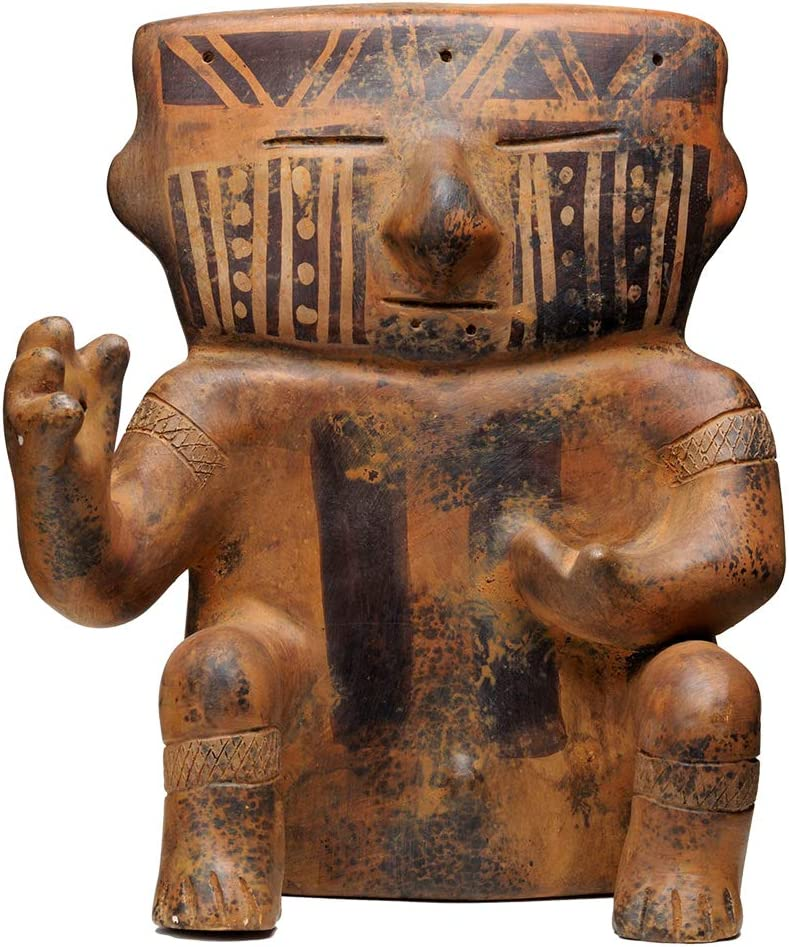 Pre-Columbian Handmade Cast Statue Figurine - Museum Replica of Native American Art for Office, Home, Living Room and Coffee Table Decoration - Cacique Tombs Offering Cultura Quimbaya