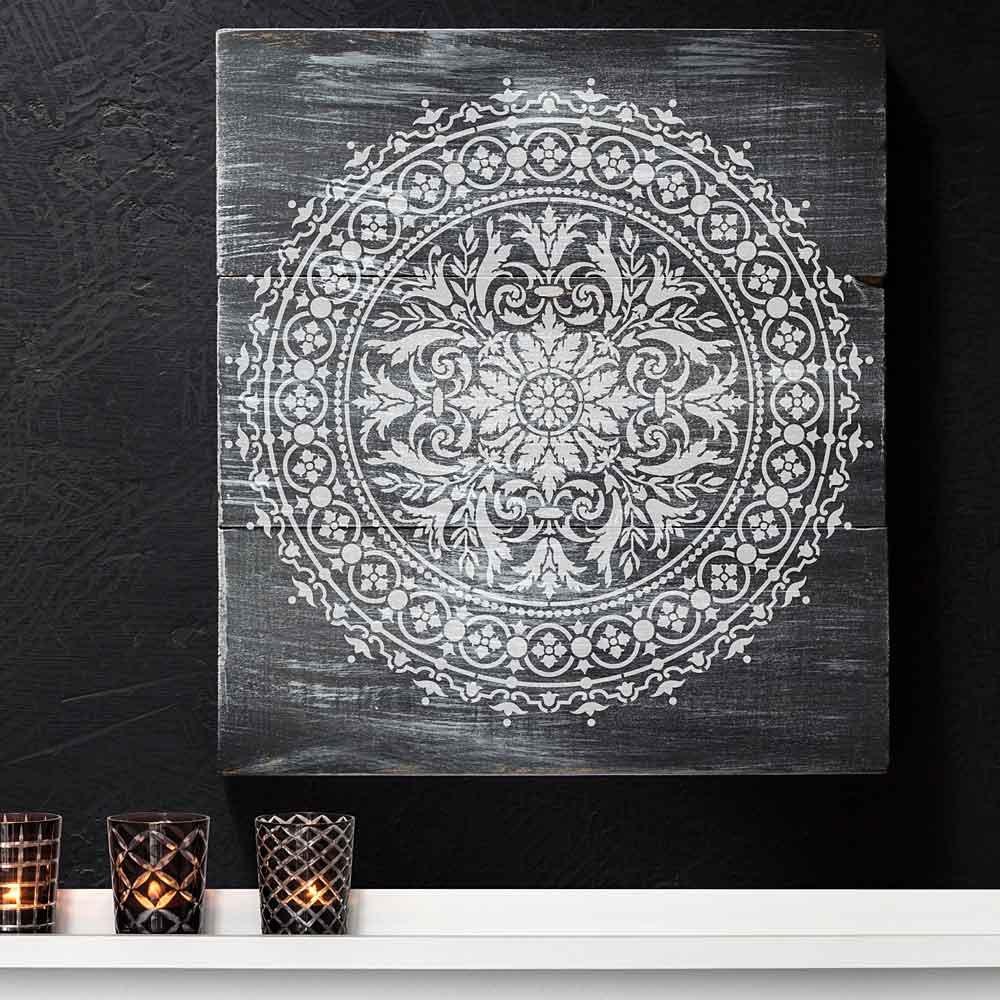 Cutting Edge Stencils Mandala Stencil Abundance - Reusable Stencils for Walls - Stencils for DIY Wall Decor - Trendy Easy Fun Wall Decor - By (18)