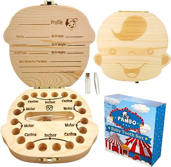 2021 Model ziidoo Baby Tooth Box,Fairy Baby Teeth Keepsake Box,Blue Love Baby Tooth Box Tooth Holder for Boys